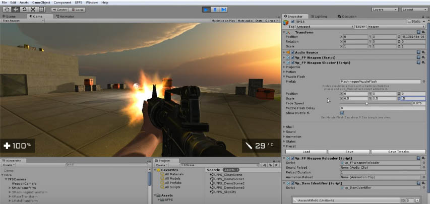 UFPS Ultimate FPS Unity Asset Interface